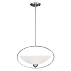 Livex Lighting Brushed Nickel Somerset 18.5 Inch Wide Mini Pendant With 1 Light