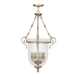 Livex Lighting Antique Brass Legacy 6 Light Pendant
