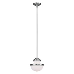 Livex Lighting Brushed Nickel Oldwick 8 Inch Wide Mini Pendant With 1 Light