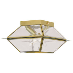 Livex Lighting Polished Brass Cage Flush Mount