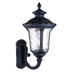 Livex Lighting Black Oxford 3 Light Outdoor Wall Sconce