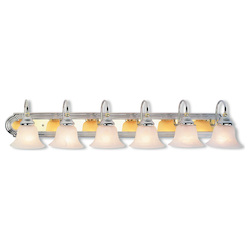 Livex Lighting Six Light Chrome & Polished Brass Vanity