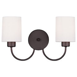 Livex Lighting Bronze Sussex Wall Sconce With 2 Lights