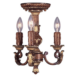 Livex Lighting Verona Bronze Villa Verona 3 Light 1 Tier Chandelier
