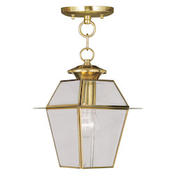 Livex Lighting Polished Brass Hanging Lantern