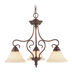 Livex Lighting Imperial Bronze Down Chandelier