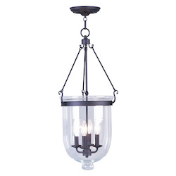 Livex Lighting Bronze Foyer Hall Semi-Flush Mount