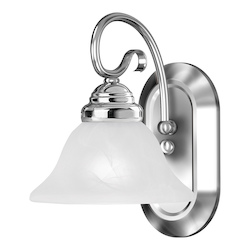 Livex Lighting One Light Chrome Bathroom Sconce