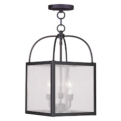 Livex Lighting Bronze Milford 3 Light Semi-Flush Ceiling Fixture