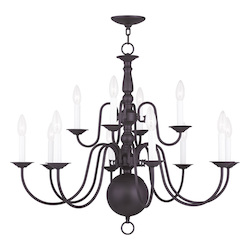 Livex Lighting Twelve Light Bronze Up Chandelier