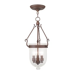 Livex Lighting Three Light Vintage Bronze Foyer Hall Pendant
