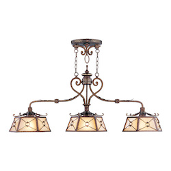 Livex Lighting Palacial Bronze With Gilded Accents Island Light