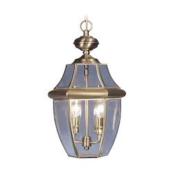 Livex Lighting Antique Brass Monterey 2 Light Outdoor Pendant