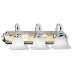 Livex Lighting Chrome Polished Brass Vanity