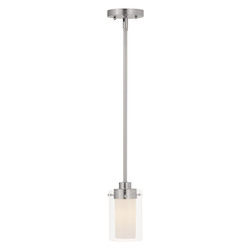 Livex Lighting Brushed Nickel Down Mini Pendant