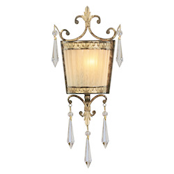 Livex Lighting Vintage Gold Leaf Wall Light