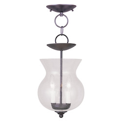 Livex Lighting Bronze Framed Glass Foyer Hall Fixture