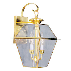 Livex Lighting Polished Brass Wall Lantern
