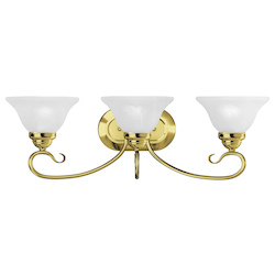 Livex Lighting Three Light Polished Brass Vanity