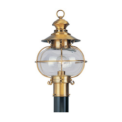 Livex Lighting Flemish Brass Post Light