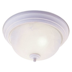 Livex Lighting Two Light White Bowl Flush Mount
