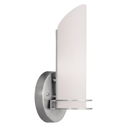 Livex Lighting Open Box Brushed Nickel Bathroom Sconce