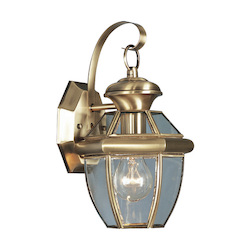 Livex Lighting Antique Brass Monterey 1 Light Outdoor Wall Sconce