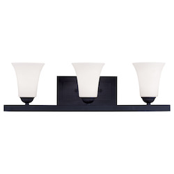 Livex Lighting Black Ridgedale Bathroom Vanity Bar With 3 Lights