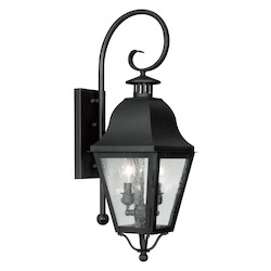 Livex Lighting Black Amwell Large Outdoor Wall Sconce With 2 Lights