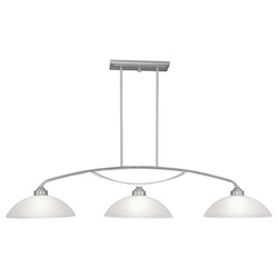 Livex Lighting Brushed Nickel Island Light