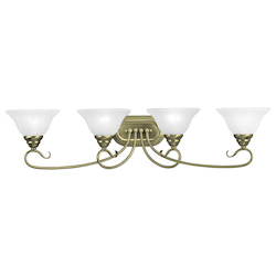 Livex Lighting Antique Brass Coronado 4 Light Bathroom Vanity Light