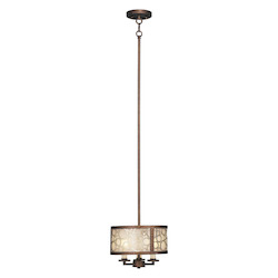 Livex Lighting Palacial Bronze With Gilded Accents Down Mini Pendant