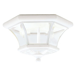 Livex Lighting White Cage Flush Mount