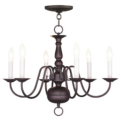 Livex Lighting Bronze Up Chandelier