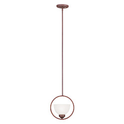 Livex Lighting Vintage Bronze Up Mini Pendant