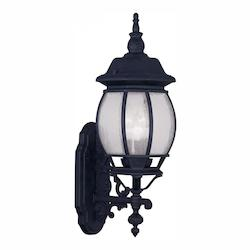 Livex Lighting Black Frontenac 23 Inch Tall Outdoor Wall Sconce With 3 Lights