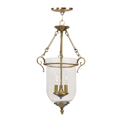 Livex Lighting Antique Brass Legacy 3 Light Pendant