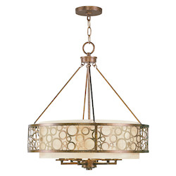 Livex Lighting Palacial Bronze Avalon 6 Light 1 Tier Chandelier