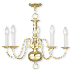 Livex Lighting Polished Brass Up Chandelier