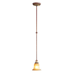 Livex Lighting Verona Bronze With Aged Gold Leaf Accents Down Mini Pendant