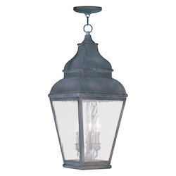 Livex Lighting Vintage Pewter Hanging Lantern