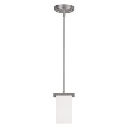 Livex Lighting Brushed Nickel Astoria Mini Pendant With 1 Light