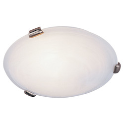Livex Lighting Three Light Brushed Nickel Bowl Flush Mount