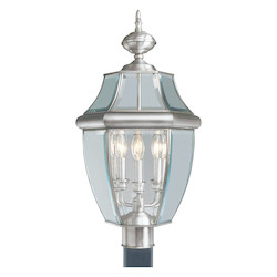 Livex Lighting Brushed Nickel Post Light