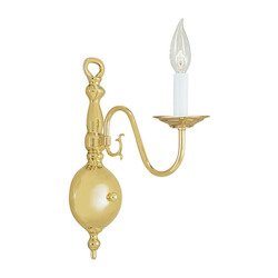 Livex Lighting Polished Brass Wall Light