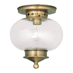 Livex Lighting Antique Brass Harbor 9.75
