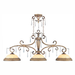 Livex Lighting Vintage Gold Leaf Island Light