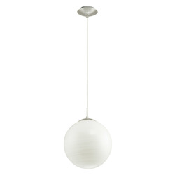 Eglo Silver 1 Light Foyer Pendant from the Milagro Collection