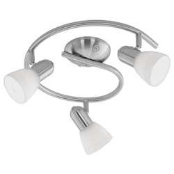 Eglo Matte Nickel Dakar 1 Three-Bulb Wall Sconce