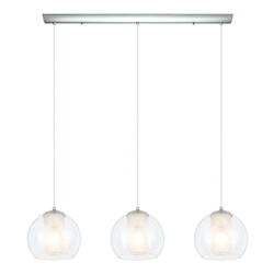 Eglo Chrome Bolsano 3 Light Multi Light Pendant
